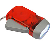 Red Eco-friendly 3-LED-Dynamo-Taschenlampen