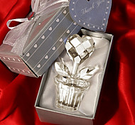 Crystal Heart Design Flower Pot Favors