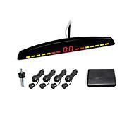 4 Radar Parking Sensor System- Led Display And English Human Voice Alarm (White,Black,Silver)