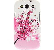 Pink Plum Blossom Pattern Soft Plastic Back Case Cover for Samsung Galaxy S3 I9300