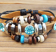 leather Charm Bracelets Beaded Leather Bracelet