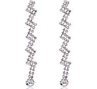 Damen Ohrring Legierung Strass Drop Earrings