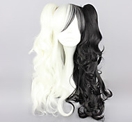 Cosplay Wigs Dangan Ronpa Monokuma White / Black Medium Anime/ Video Games Cosplay Wigs 70 CM Heat Resistant Fiber Male