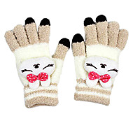 Rabbit Plush Keep Warm Textile Screen Touch Glove(3 Fingers Touch)