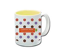 Personalized Polka Dot Pattern Yellow Mugs