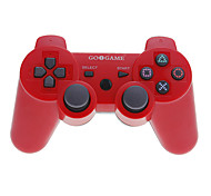 goigame controlador do bluetooth com fio para PS3 / PC