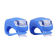 Impermeable Silicona Flashing Light Head Rear Light Linterna con doble LED