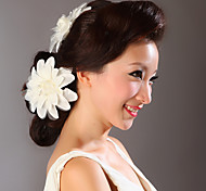 headpieces flores de cetim de casamento (2 peças por pacote)