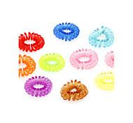 (10 pz) Dolci multicolori del silicone legami dei capelli per le donne