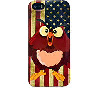 Vintage Us Flag Owls Glossy TPU Soft Cover Case for iPhone 5/5S