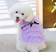 Elegante abito da principessa a più strati per animali Cani (colori assortiti, misure)