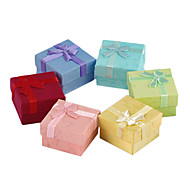 Sweet Multicolor Paper Jewelry Box For Ring (Pink,Red,Blue And More)(1 Pc)