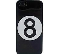 biliardo nera numero 8 palla copertura dura di caso per il iphone 5/5s