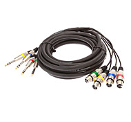 4 XLR macho a 4 XLR Female Audio Cable Negro OD de 10 mm (5 M)