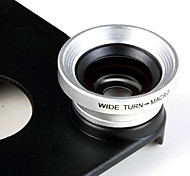 0.67X Wide Angle Lens e Macro e posteriore Case for iPhone 4/4S (Argento)