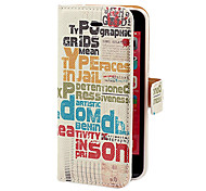 Vintage Magazine Cover Pattern PU Full Body Case with Card Slot and Stand for iPhone 5C