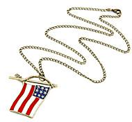 USA-Flaggen-Anhänger-Halskette