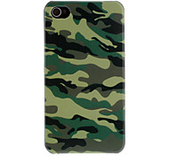 Blue Camouflage Pattern Protective Hard Case for iPhone 4/4S