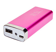 Portable Power Bank with LED Flashlight for iPhone, iPod, and other USB Mobile Devices 6800mAh Pink