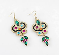 New Design Alloy With Rhinestone Colorful Earrings