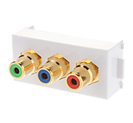 RCA Female to Female Modular Flush Type Ivory