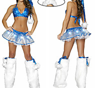 Blue Stars Sexy Lady Women's Christmas Costume