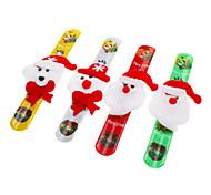 Lint Papai Noel Pulseira Padrão com luz colorida para o Natal (cor aleatória)