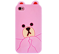 Little Bear Designed Silicone Protective Case for iPhone 4/4S(Assorted Color)