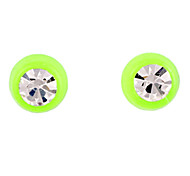 Doce Orelha Verde Acrílico Piercing (Verde) (1 par)