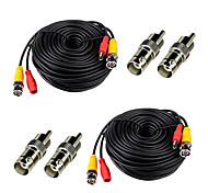 2 Pack 100ft Feet Video Power Cables BNC RCA Security Camera Wires Cords with Bonus Connectors