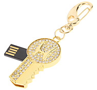 Gold Key recurso USB Flash Drive 16GB