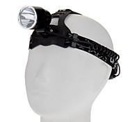3-Mode Cree XM-L T6 High Power LED Headlamp (1000LM, 2x18650, Black)