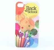 Pencil Pattern Hard Case for iPhone 4 and 4S