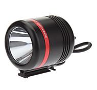 KISR 5-Mode del Cree XP-E R3 LED de bicicletas Linterna / faro (350LM, Cargador USB, Negro + Rojo)