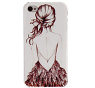 Unique Relievo Series Sexy Girl Design Pc Hard Back Case Cover for iPhone 4/4S