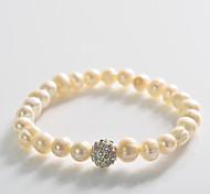Fashion Drill Ball Pearl  Rosary Bracelet