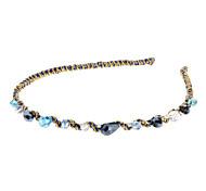 Moda dos azuis / ouro Headbands vidro para as Mulheres