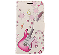 Guitar Drawing Pattern Faux Leather Hard Plastic Cover Pouches for Samsung Galaxy S3 I9300