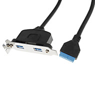 USB 3.0 macho a hembra 2 Deflector Cable (0.5M)