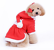 Dog Coat / Hoodie Red Dog Clothes Winter Christmas / New Year's