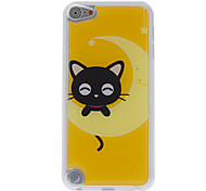 Cartoon Style Little Smiling Cat Pattern Epoxy Hard Case for iPod Touch 5