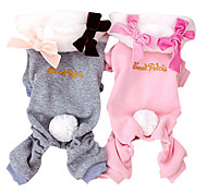 Lovely Bowknots Decorated Jumpsuits with Hoodie Tail for Pets Dogs (Assorted Colors, Sizes)