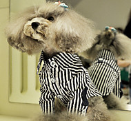 Dog Shirt / T-Shirt / Shirt Blue Dog Clothes Summer Stripe
