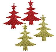 Ouro & Glitter Red Pine Decoração de Natal (cor aleatória)