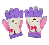 Rabbit Ornament Textile Screen Touch Glove(3 Fingers Touch)