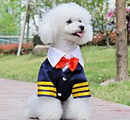 Dog Shirt / T-Shirt White / Blue Summer Nautical