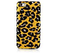Amarillo estampado leopardo Textil Tejido Arte nuevo caso para el iPhone 5C