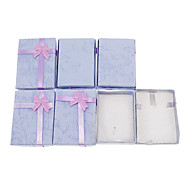 (6pcs)Classic Purple Paper Jewelry Box For Small Jewelry