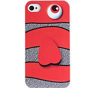 Joyland Cyclopia Monster Pattern ABS Terug Case voor iPhone 4/4S
