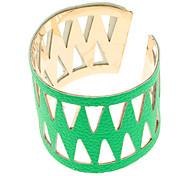 (1 Pc)Fashion Kid's Green Alloy Cuff Bracelet